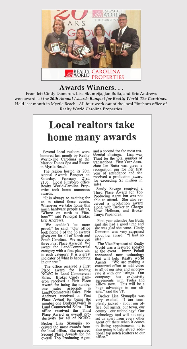 Newspaper Award Page web